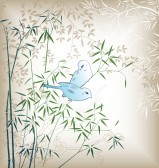 7423255-oriental-bamboo-leaf-and-bird-4
