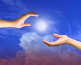 10645521-a-hand-is-reaching-out-in-the-sky-for-help